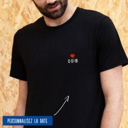 T-shirt Homme date personnalisée - 7