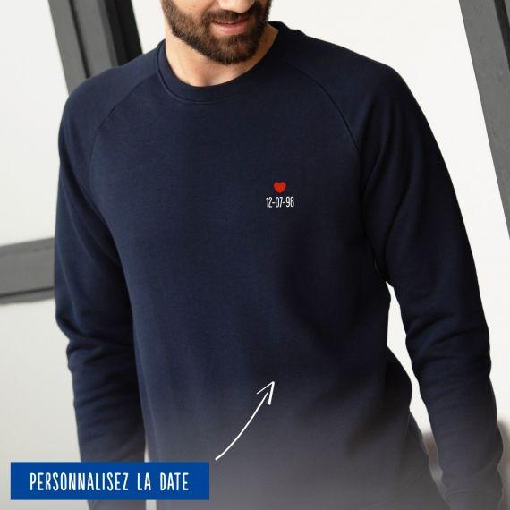 Sweatshirt Homme date personnalisée
