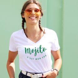 T-shirt col V - Mojito c'est mon eau - Femme - 1