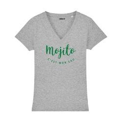 T-shirt col V - Mojito c'est mon eau - Femme - 3