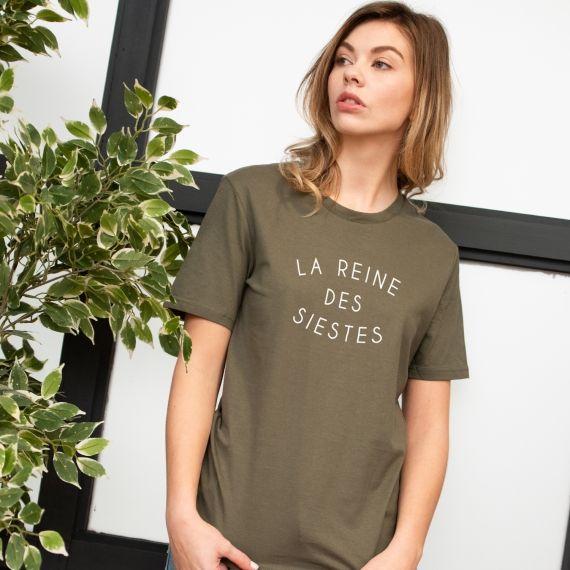 T-shirt La reine des siestes - Femme