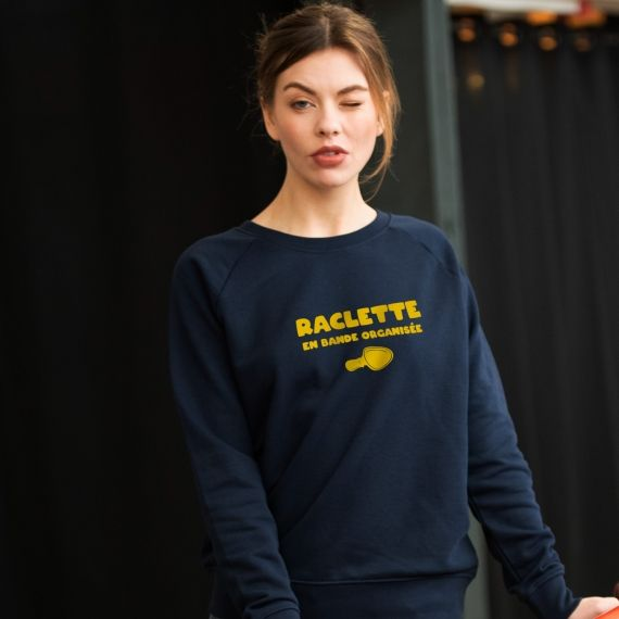 Sweatshirt Raclette en bande organisée - Femme