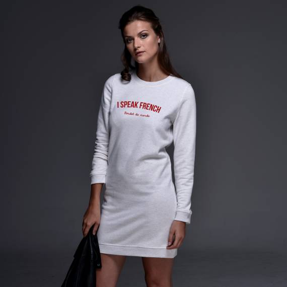 Robe sweat I speak French - Femme