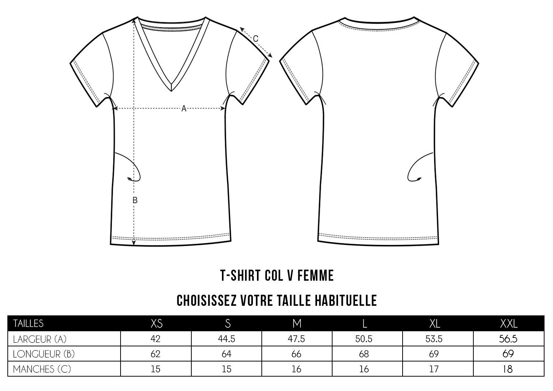 T-shirts col V Femme